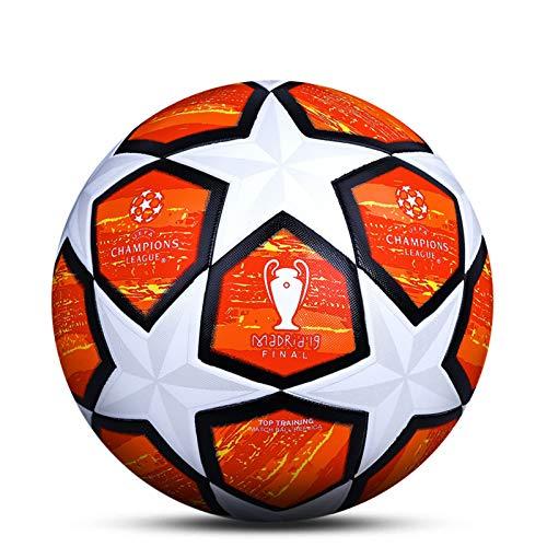 LDLXDR Balones de fútbol de competición- Pelota de Entrenamiento de tamaño Completo 5 4 Adultos, niños de Secundaria, Club Profesional, Juegos de Interior y Exterior, 9,5