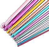 Juego de 11 agujas de tejer de aluminio, multicolor, de 2 mm a 8 mm #13-MYZG