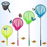 Eyscoco Kinder Schmetterling Net,4er-Pack Teleskop Kinder Kescher,Outdoor Ideal Zum Fangen von...