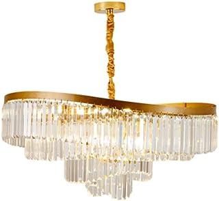 JJZXD Crystal Chandelier Light Modern Square Flush Mount Ceiling Light Fixture Chandeliers