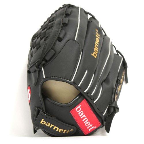 JL-120 RH schwarz Baseball Handschuh, Polyurethan, Infield/Outfield, Grösse 12 (für Linkshänder, Wird an der rechten Hand getragen)