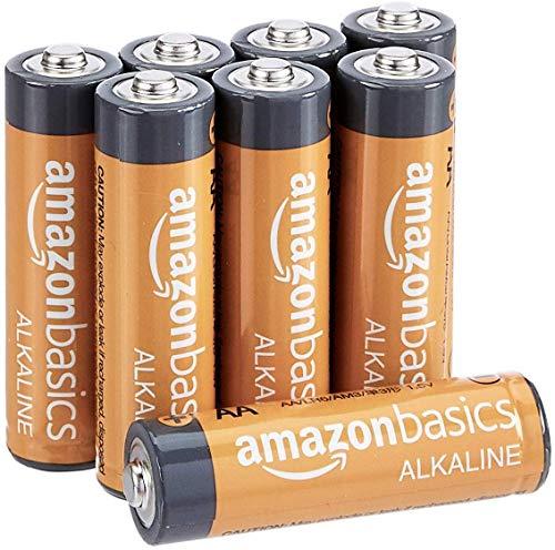 AmazonBasics - Pilas alcalinas AA de 1,5 voltios, gama Performance, paquete de 8 (el aspecto puede variar)