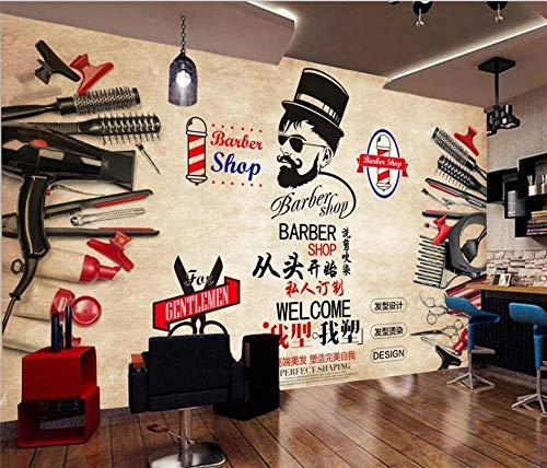 Fotomural Mural De Pared 3D Fondo Vintage Barbería Póster Hd Pegatinas De Pared Herramientas De Arte De Pared Decoración De Pared Moderna-196.8x118.1in