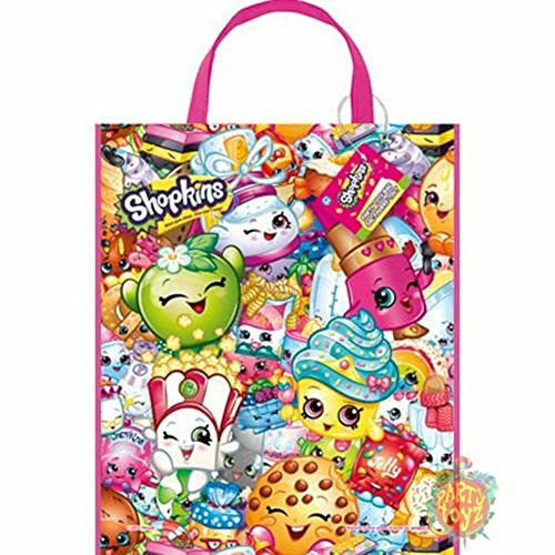 """NEW SHOPKINS SET OF TOTE BAGS (12) PCS 12 bags Made of plastic Measures 13""""x 11"""""""