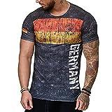 Biooarc Spanish Flag Jerseys Men t Shirts Swedish Letter 3D Printing,T2,XXXL