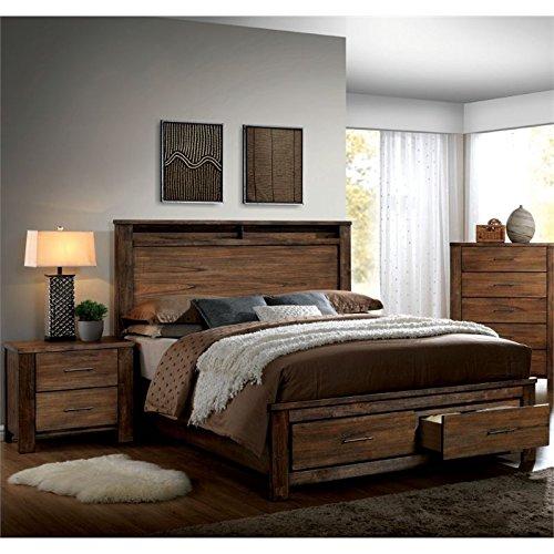 Amazon.com Furniture of America Nangetti Rustic 2 Piece Queen Bedroom Set in Oak Kitchen \u0026 Dining & Amazon.com: Furniture of America Nangetti Rustic 2 Piece Queen ...