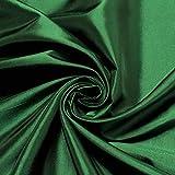 Stoff Polyester Kleidertaft grün Taft dezenter Glanz