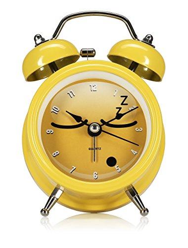 NPW Emoticon wekker - geel door krijgen Emojinal nachtkastje klok