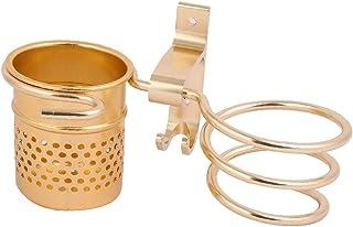 NEW LON0167 Aluminium Alloy Gold Tone Wall Mounted Hair Dryer Holder w Storage Shelf and Hook(Aluminiumlegierungs-Goldton ...