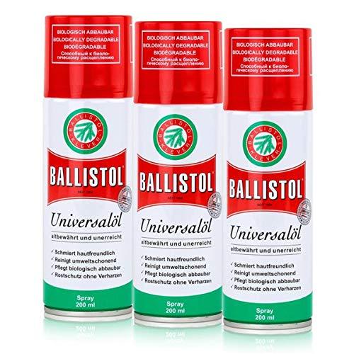 BALLISTOL Spray, 3 Dosen a 200 ml Waffenöl Kriechöl Pflegeöl 21700