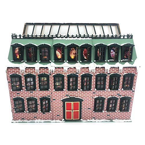 Boji Christmas Tree Calendar, Christmas Snow House, Wooden Arrival Calendar, Countdown, LED Party Decoration, 24 Switchable Windows with LED Light, Ornament, Christmas House with Santa Claus