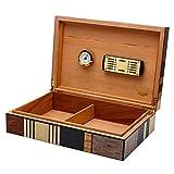RKY Caja de cigarros Caja de cigarros, Caja de cigarros, Revestimiento de Madera de Cedro, Aspecto de Moda, parquet de Madera /-/ (Color : A)