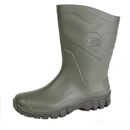 Womens Dunlop Short Half Length Ankle Wellington Wellies Boots WIDE