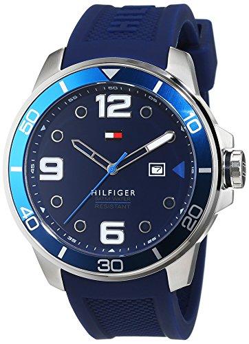 Tommy Hilfiger 1791156 - Reloj de Pulsera Hombre, Silicona, Color Azul