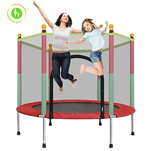 LXXTI Outdoor Trampolines with Enclosure, 5ft Trampolines for Children Outdoor with All Accessoriestrampoline, Fun Summer Exercise Fitness for Adult Kids Indoor/Outdoor Toy Great Gift