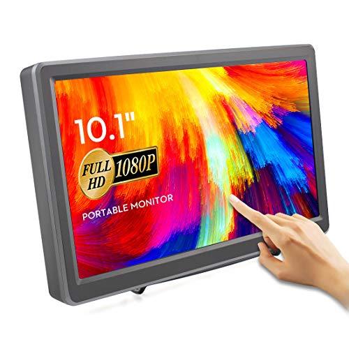 Elecrow - Monitor touch screen da 10,1 pollici, Raspberry Pi, 1920 x 1080p, HDMI VGA portatile, schermo touchscreen IPS compatibile con Raspberry Pi 3/4B/3B+/3B WiiU Xbox 360 Windows 7/8/10