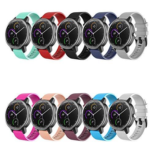 FunBand kompatibel mit Garmin Vivoactive 3 Armband, Silikon Replacement Uhrenarmband für Garmin Vivoactive 3 / Samsung Gear S2 Classic/Samsung Gear Sport/Galaxy Watch 42mm / Galaxy Watch Active