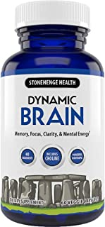 Stonehenge Health Dynamic Brain Supplement – Memory, Focus, & Clarity– Formulated with 41 Unique Nootropic Ingredients Inc...