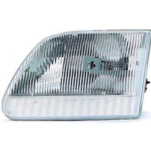 Go-Parts - for 1997 - 2004 Ford F-150 Front Headlight Assembly Housing / Lens / Cover - Left (Driver) Side - (Base Model + Harley-Davidson Edition + Lariat + XL + XLT) 3L3Z 13008 DA FO2502139