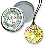 FANS & Friends Caja para dientes de leche con medalla para niños y niñas, e-book gratis incluido, Caja para guardar los dientes de bebés, Ratoncito Pérez, color: azul grisáceo