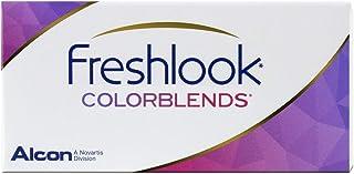 فريش لوك عدسات لاصقة شهرية ، اللون بليند جرين ، -02.25