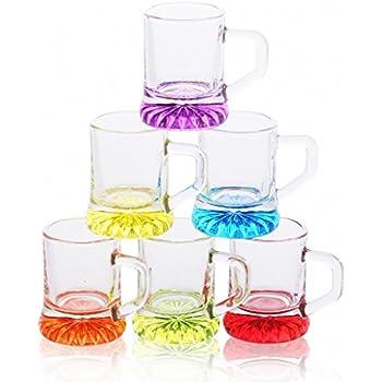 Alsino Party JGA Schnapsglas Shotglas Pinnchen Trinkglas aus Glas mit Henkel 2cl KG-61001