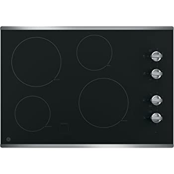 Melt Setting Keep Warm GE JP5030SJSS 30 Inch Smoothtop Electric Cooktop with SyncBurner ADA Compliant Fits Guarantee Built-in Timer 4 Radiant Elements Digital Touch Controls