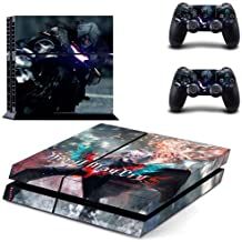 PS4 Vinyl Skin Devil May Cry 5 HD Printing Whole Body Sticker Decal Cover for Playstation 4 Console and 2 PS4 Controller by Mr Wonderful Skin