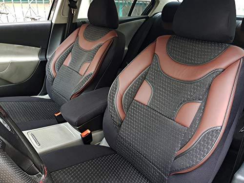 Sitzbezüge k-maniac für Audi A8 D2 | Universal schwarz-rot | Autositzbezüge Set Komplett | Autozubehör Innenraum | NO1920436 | Kfz Tuning | Sitzbezug | Sitzschoner