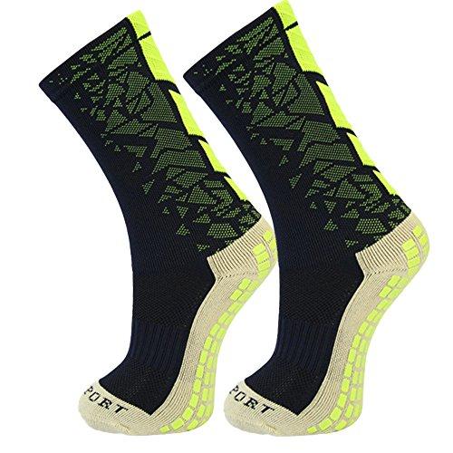 Ynport Crefreak Mens-Anti-Beleg-Fußball-Socken-mittlere Kalb-Fußball-Socken-Fußball-Kurze Strümpfe rutschfeste Sportsocken Gummiauflagen Basketball Wandern laufend