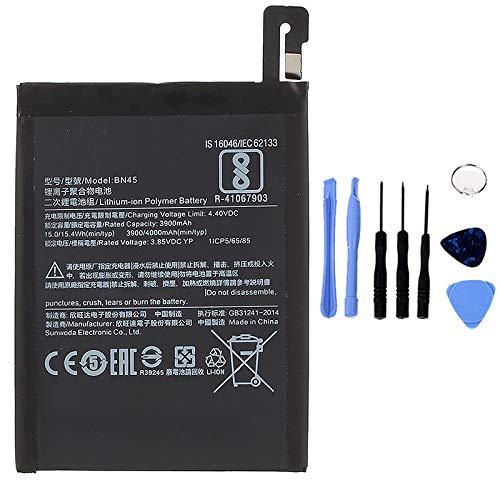 Ellenne Batería compatible con Xiaomi Redmi Note 5 BN45 de alta capacidad 4000 mAh con kit de desmontaje incluido