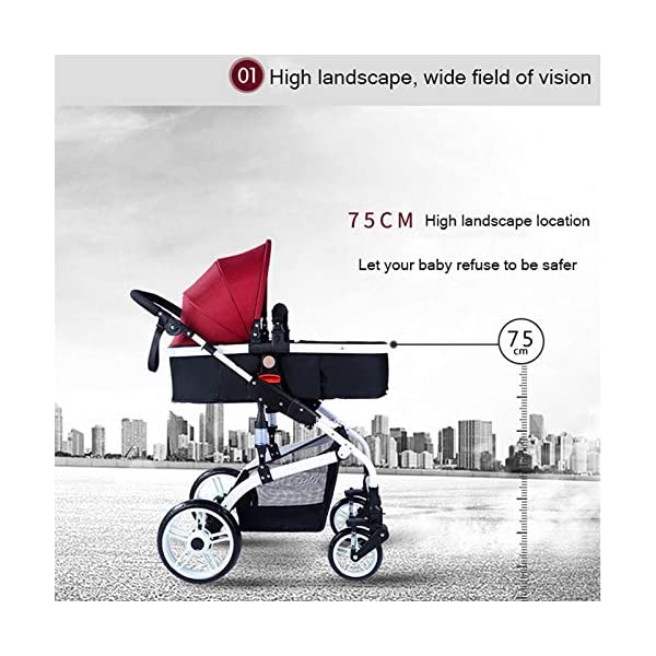 JXCC Baby Stroller Ultra Light Folding Child Shock Absorber Trolley Can Sit Half Lying 0-3 years old,25kg maximum -Safe And Stylish Blue JXCC 1.{All seasons} - Three-sided leaky net design, the awning can be adjusted at multiple angles, easy to cope with the sun 2.{75CM high landscape} - Baby can stay away from the surface heat, car exhaust, for the health of the baby 3.{3D stereo shock} - X-frame setting, evenly dispersing the upper weight, rear wheel two-wheel brake 5