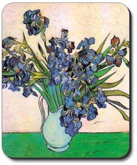 Van Gogh - Vase & Irises Mouse Pad - by Art Plates