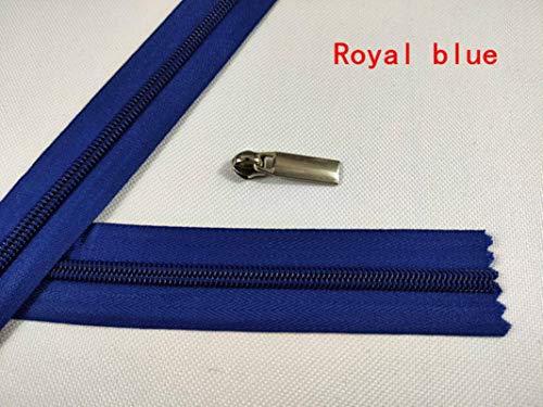 Hukat 5 metros 5 # cremallera nylon sofá cubierta tienda mosquitera bolso cojín almohada cremallera corta,azul marino