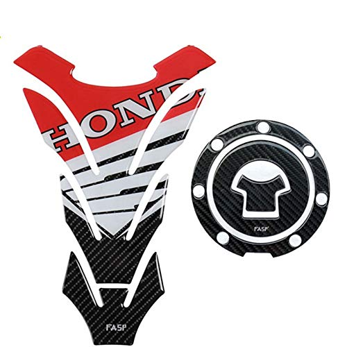 Motorcycle Gas Protector 5D Carbon Fiber Motorcycle Tank Pad Fuel Tank Sticker for H-on-da CBR 250r 600 1000rr 600 Rr 125 CBF Cb 750 1300 1000rl Tank Protector Sticker (Color : B)
