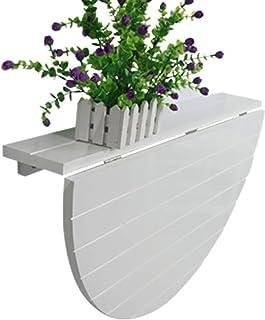 Table ronde en bois Table murale Table à feuilles montées sur le mur Cuisine pliante Table à manger Ordinateur Bureau ( Co...