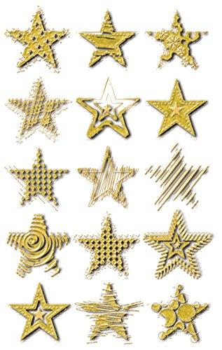 AVERY Zweckform 52873 kerststicker gouden ster (effectfolie) 15 stickers