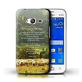Hülle Für Samsung Galaxy Ace 4 Neo/G318 Christliche Bibel Vers Lord Shepherd/Psalm Design Transparent Ultra Dünn Klar Hart Schutz Handyhülle Hülle