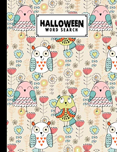 Halloween Word Search: Owls Cover Halloween Word Search, Puzzles Activity Book, Fun For Kids & Adults, Puzzle Activities Gift, W