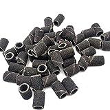100 PCS/Set Negro Nail Art Bandas de lija Herramientas de pedicura Accesorios de taladro de uñas eléctricas Herramientas de pie 80/150/240 CHAOCHAO (Color : 240)