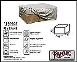 Raffles Covers RFS9595 Abdeckung für Lounge-Tisch 95 x 95 H: 45 cm Schutzhülle für Lounge Tisch, Hocker Abdeckung, Schutzhülle Hocker