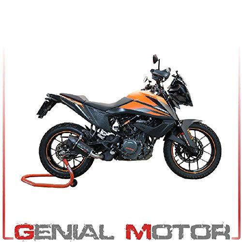 Auspuff Marke GPR kompatibel für KTM Adventure 390 2000/21 E4 Auspuff zugelassen mit Anschluss Furore EVO4 schwarz