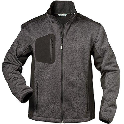 Elysee 23370-M Fleece-Jacke Innsbruck Größe M in grau/schwarz, M