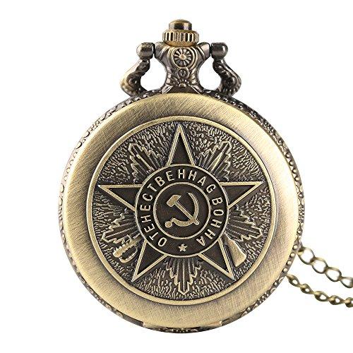 Reloj de Bolsillo para niño, Cuarzo soviético de Bronce con Insignia de Comunista, Reloj de Bolsillo, diseño de Martillo de mechero para Hombre – Jlyshop