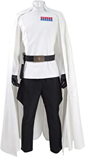 Mens Battle Uniform Cosplay White Cloak Full Set Hallowee Costume - US Size