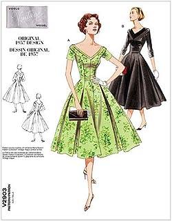 Vogue 2903 - Patrones de Costura (Vestido para Mujer, Tallas