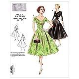 Vogue 2903 - patrones de costura (vestido para mujer, tallas 32-48, instrucciones en inglés)