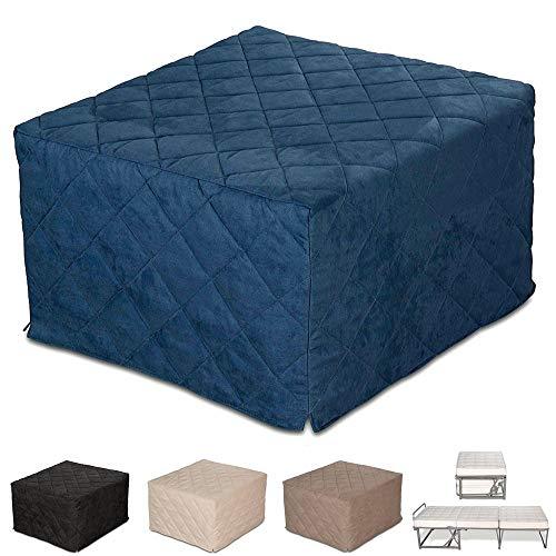 Puf cama individual con colchón