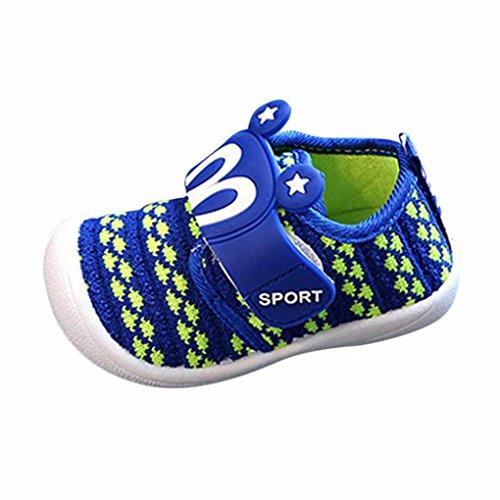 FNKDOR Baby Quietsche Schuhe Hasenohren Squeaky Krabbelschuhe für Jungen und Mädchen(Länge: 12,5 cm,Blau)