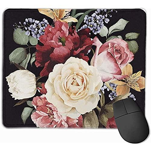 Mauspad, Mauspad Grußkarte mit Rosen Aquarell kann als Einladungskarte für Hochzeit Geburtstag andere Feiertagssumme sein Wedding